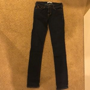 dark wash Abercrombie Kids jeans
